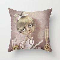 teacher Throw Pillows featuring The teacher by daltrOnde