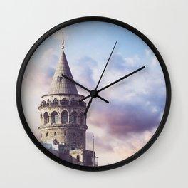 Galata Tower, Istanbul, Turkey Wall Clock