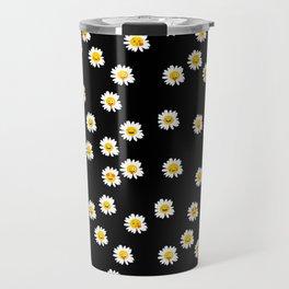 Daisy Cute Face Floral Travel Mug