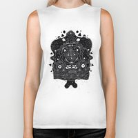 meat Biker Tanks featuring Meat Popsicle by Cosmic Nuggets