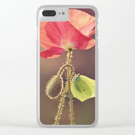 Pink Poppies Clear iPhone Case