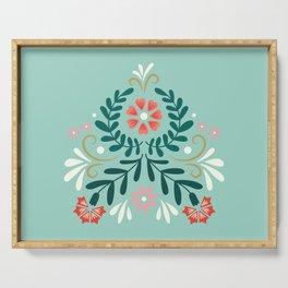 Floral Folk Pattern Serving Tray
