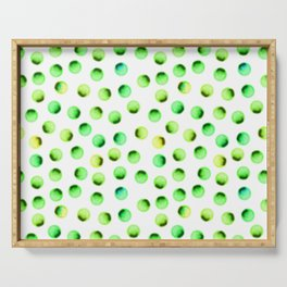 Green Polka Dots Serving Tray