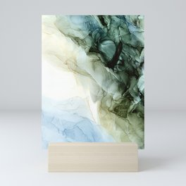Land and Sky Abstract Landscape Painting Mini Art Print