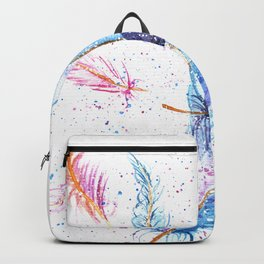 Watercolor Feather Art Pattern Backpack