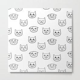 Cat heads Metal Print