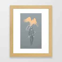 Out of the ashes arose a Phoenix Framed Art Print