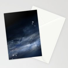 blue galaxy Stationery Cards