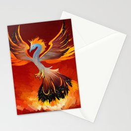 Cosmic Phoenix - Fire Burst Stationery Cards