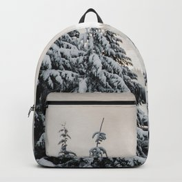 Winter Woods II - Snow Capped Forest Adventure Nature Photography Backpack