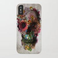 black cat iPhone & iPod Cases featuring SKULL 2 by Ali GULEC