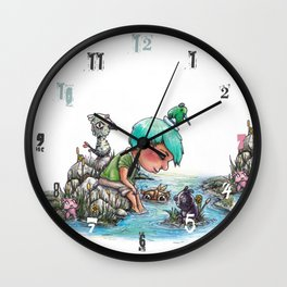 By the River's Edge Wall Clock