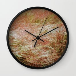 Amber waves Wall Clock