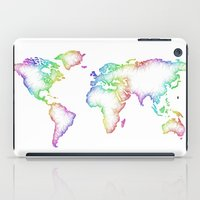 map of the world iPad Cases featuring World map by David Zydd