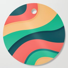 The river, abstract painting Cutting Board