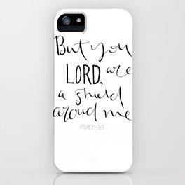 Psalm 3:3 iPhone Case