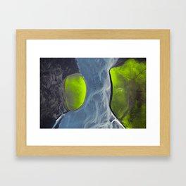 Lush Lava Framed Art Print