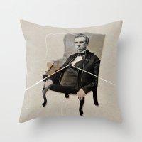 boss Throw Pillows featuring boss by ferzan aktas