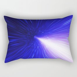 High energy particles traveling through space-time Rectangular Pillow