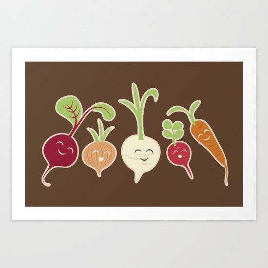 Cute Roots Art Print