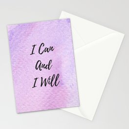 I can and I will Stationery Cards