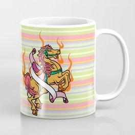 tattoo of Crazy Horse on orange flames Coffee Mug