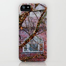 Brick Exterior with Lights iPhone Case