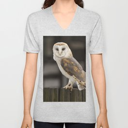 Barn Owl Unisex V-Neck