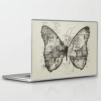 backpack Laptop & iPad Skins featuring Butterfly Effect by Tobe Fonseca