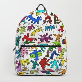 Doodles Homage to Keith Haring Color Backpack