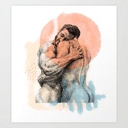 The Lovers - NOODDOOD Remix Art Print