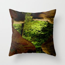Cave-out Kiss Throw Pillow