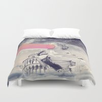 sisters Duvet Covers featuring sisters by Peg Essert