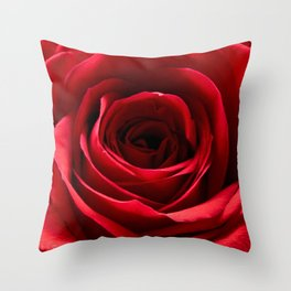 Centre of a Red Rose Throw Pillow
