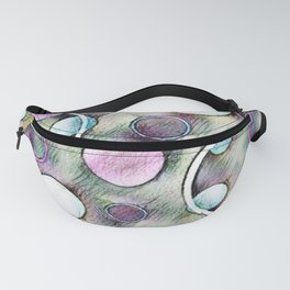 Pink and Green Colorful Bubbles in Motion | Saletta Home Decor Fanny Pack