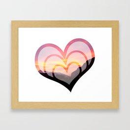 Mountains in Love II Framed Art Print