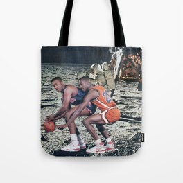 Space Ball - Vintage Collage Tote Bag