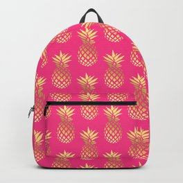 Cute gold & hot pink pineapple pattern Backpack