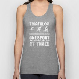 Triathlon Sports Unisex Tank Top