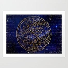 Star Map - City Lights Art Print