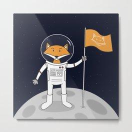 The Fox on the Moon Metal Print
