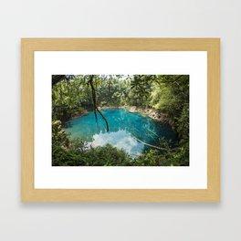 Cenote de Laguna Brava Framed Art Print