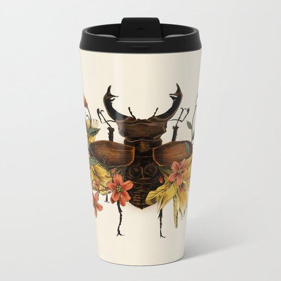 Blooming Beetle Metal Travel Mug