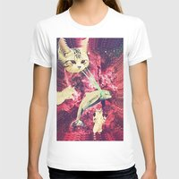 saga T-shirts featuring Galactic Cats Saga 2 by Carolina Nino