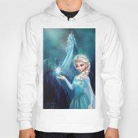 frozen elsa Hoodies featuring Elsa Frozen by Niniel