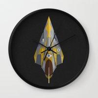jedi Wall Clocks featuring Jedi Starfighter by IX Studio