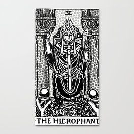 Modern Tarot Design - 5 The Hierophant Canvas Print