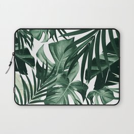 Tropical Jungle Leaves Pattern #4 #tropical #decor #art #society6 Laptop Sleeve