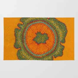 Growing -Taxus - embroidery based on plant cell under the microscope Rug