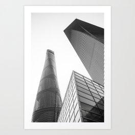 colorless shanghai 4 Art Print